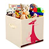 Storage Bins Foldable Cube Box – MURTOO – Eco Friendly Fabric Storage Cubes Origanizer for Kids Toys Cloth Fit Ikea Shelves, 13 inch (Kangaroo)