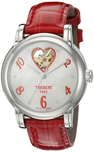Tissot Women's T0502071611602 Heart Automatic Mother of Pearl Open Dial Watch
