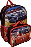 "Disney Pixar Cars Jackson & Lightning McQueen 16"" Backpack W/ Detachable Lunch Box"