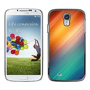 [Neutron-Star] Snap-on Series Teléfono Carcasa Funda Case Caso para Samsung Galaxy S4 [Resumen Policías Policía Azul Rojo]