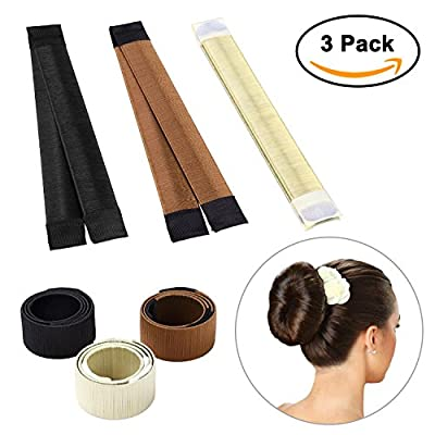 Hair Bun Maker, Magic Bun Shaper Donut Hair Styling Making DIY Curler Roller Hairstyle Tools, French Twist Doughnuts Hair Accessories - 3 Pack