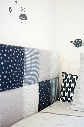 KIDS ROOM HEADBOARD/WALLBOARD-DECORATIVE WALL CUSHIONS-Customize it!-Choose fabric designs & coverage area by Piccolina Boutique