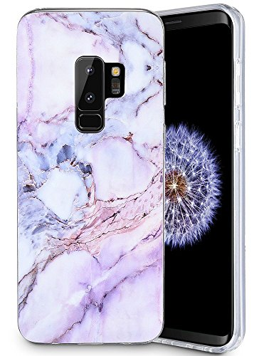 Caka Galaxy S9 Plus Case, Galaxy S9 Plus Marble Case Slim Anti-Scratch Shock-Proof Luxury Fashion Silicone Soft Rubber TPU Protective Case for Samsung Galaxy S9 Plus - (Pink)