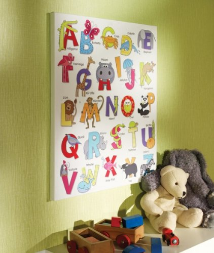 ABC Alphabet Animal Childrens Kids Bedroom Nursery Canvas Wall Art Picture & ABC Alphabet Animal Childrens Kids Bedroom Nursery Canvas Wall Art ...