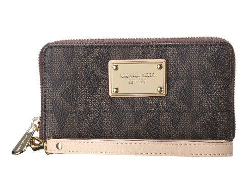 Michael Kors iPhone Case Brown Signature PVC Leather