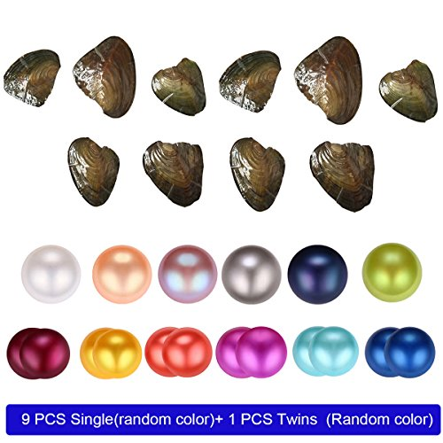 Round Gray Freshwater Pearls - 9