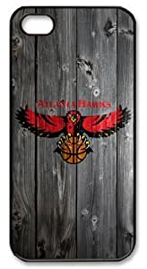 LZHCASE Personalized Protective Case For HTC One M8 Cover NBA Sports Atlanta Hawks Logo in Wood Background