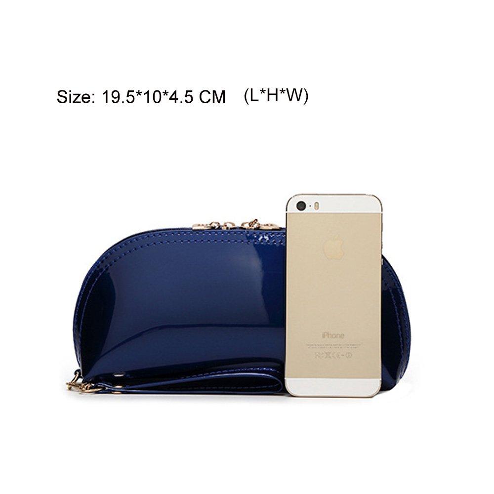 Exquisite Patent Leather Wristlet Phone Wristlet Wallet Clutch Handbag Wristlet//Wrist Strap//Card slots//Cash pocket Fit iPhone