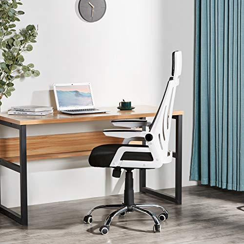 Office Desk Chair Tiptiper Ergonomic Office Chair, High Back Mesh Computer Chair with 120° Reclining Swivel and 90° Adjustable Armrest