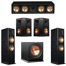 Klipsch 5.1 Black Ash System with 2 RF-7 III Floorstanding Speakers, 1 RC-64 III Center Speaker, 2 Klipsch RP-250S Surround Speakers, 1 Klipsch R-112SW Subwoofer