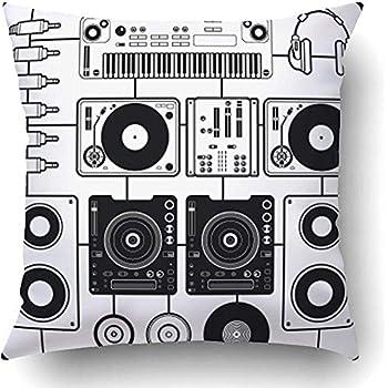 Amazon Com Starowas Throw Pillow Covers Black Turntable