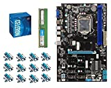 Build Your Own Barebone Mining Rig Bundle with B250 Esonic GLADIAATOR Mining Motherboard - Includes Intel G3900 CPU, 4GB DDR4 RAM, and PCI-e Risers - Choose from 860-1500W Power Supply, SSD & Case