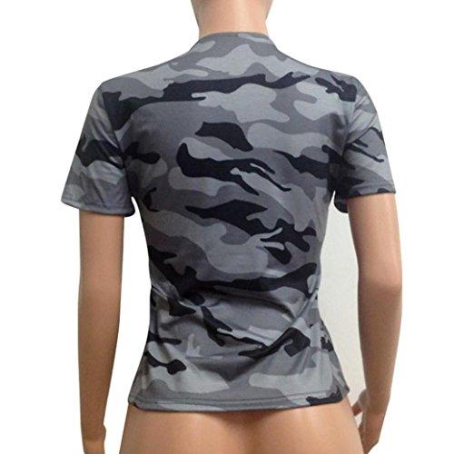 mode des femmes la chemises T dames de de camouflage shirt wWx7nqUpO