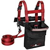 Lucky Bums Kid's Ski Trainer Harness, Learn-to-Turn Leashes (Red/Black)