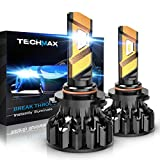 TECHMAX 9006 LED Headlight Bulbs,360 Degree Adjustable Beam Angle Cree Chips 12000Lm 6500K Xenon White Extremely Bright HB4 Conversion Kit of 2