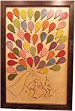 Wedding Guest Book Alternative Wood Puzzle ''Bicycle for Two'' Standard 50 Balloon Pieces 18''x27''