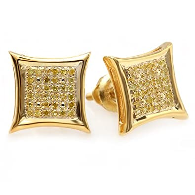 round n gold cz earrings stud decorative ireland sparkling