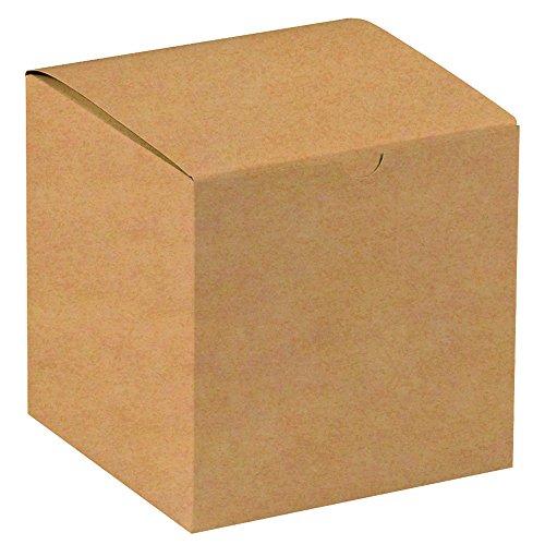 "Aviditi Gift Boxes, 7"" x 7"" x 7"", Kraft, Pack of 100 (GB777K)"