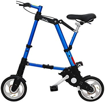 WYFDM Bicicletas, Bicicleta Plegable de 8/10 Pulgadas Aleación de Aluminio Ultra-Ligera Mini Bicicleta Plegable Compras Metro Metro Portátil de Bolsillo Unisex Ciclismo,E,10inch: Amazon.es: Deportes y aire libre