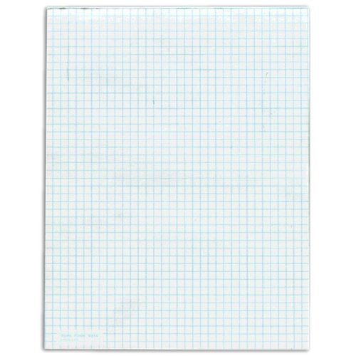 TOPS TOP3314 Quadrille Pad, Gum-Top, 8-1/2 x 11 Inches, Quad Rule , White Paper, 50 Sheets per Pad  Pack(3314) by Tops (Image #1)