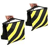 Phot-R® Photo Studio Sandbag for Light Stand Boom Arm Camera Tripod - Black & Yellow x2