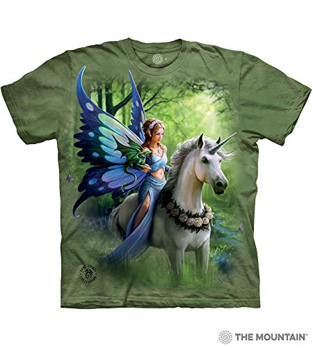 The Mountain Realm Of Enchantment Adult T-Shirt, Green, ()