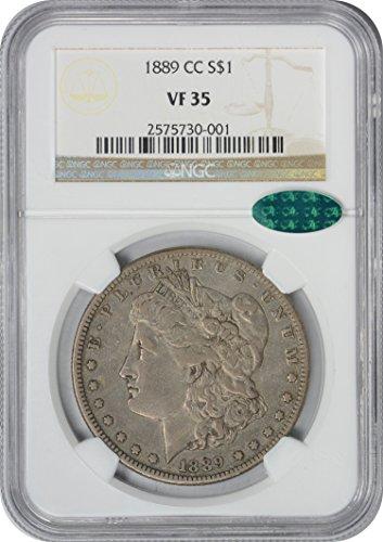 1889 CC Morgan Dollar VF35 NGC/CAC (1889 Morgan Dollar Silver Coin)