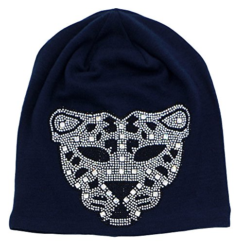 Bag Of Jelly Beans Costume Pictures (Hiloving Summer Black Stretch Oversized Slouchy Cotton Diamond Leopard Knit Beanie Hats For Women (Navy blue))