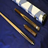 Quality Handmade 3/4 Piece Snooker Cue Set Complete with Luxury Leather Case and Extension - 19oz