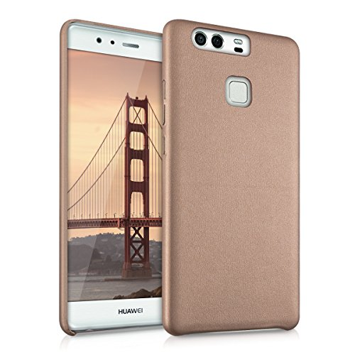 kwmobile Softcase for Huawei P9 with artificial leather cover - Back case protective case in rose gold