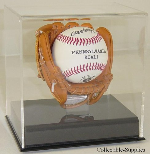 Acrylic Mini Baseball Glove Mitt Ball Display Case (Shipper Display)