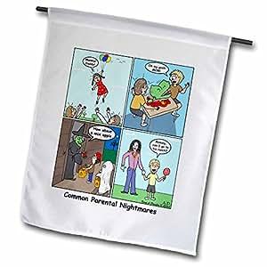 Rich Diesslins Funny General Cartoons - Four Parental Nightmares - 18 x 27 inch Garden Flag (fl_3770_2)