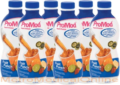 Promod Liquid Protein Supplement Fruit Punch Flavor 1-QT (946-mL/32oz) Bottles - 1/Case of 6 by ProMod