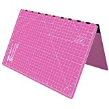 Foldable Cutting Mat A2 Self Healing Imperial 23 x 17 inch - Pink