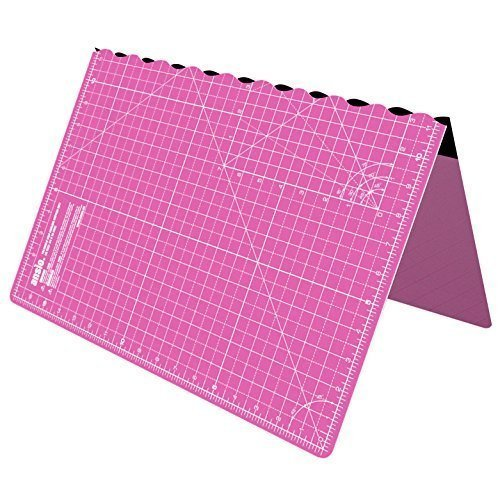 Foldable Cutting Mat A2 Self Healing Imperial 23 x 17 inch - Pink by ANSIO
