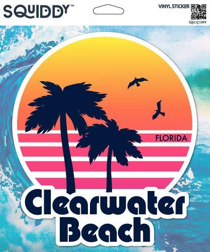 Squiddy Clearwater Beach Florida - Vinyl Sticker for Car, Laptop, Notebook (5