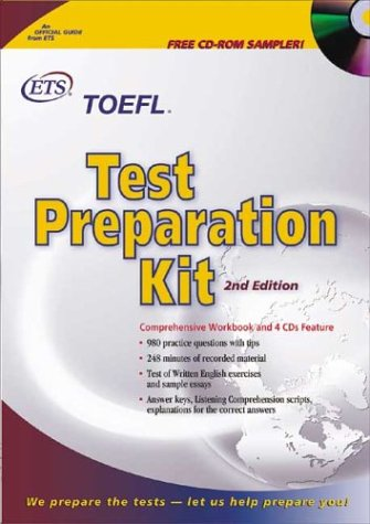 TOEFL Test Preparation Kit with CDROM and Cassette(s) and Other