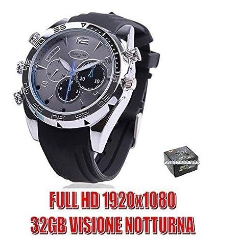 Reloj espía 32 GB con cámara videocámara silicona negro Full HD infrarrojos Night Vision Spy Cam cw134: Amazon.es: Electrónica