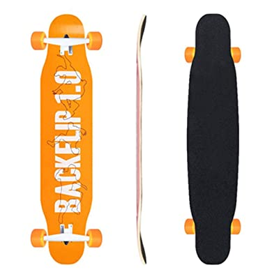 Aniseed Skateboards Longboard Skateboard Deck Complete Back 9.8-Inch X 46.0-Inch : Sports & Outdoors