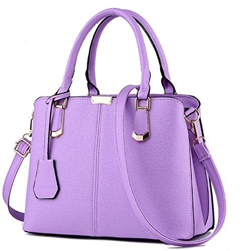 PU à Messenger Bag main Cross cuir Femmes à Body épaule Sac main main Violet Tote Sac Lady en sac à aw6nqnd1cU