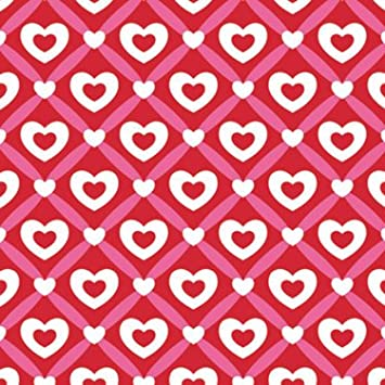 """Heart Lattice Gift Wrapping Roll 24"""" X 15' - Valentine's Day Gift Wrap  Paper"""