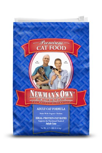 Newman's Own Organics Adult Cat Formula, 4.75-Pound Bag, My Pet Supplies