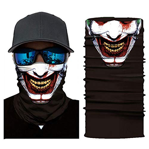 Halloween Bandana Face Mask Festival Mask Gaiter Mask Hip Hop Face Mask Motorcycle Dust Mask (Skull-A1)