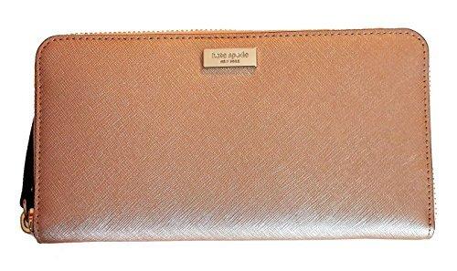 Zip Leather Wallet Continental - Kate Spade New York Neda Laurel Way Wallet Rosegold