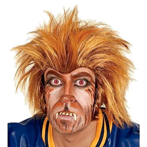 Rimi Hanger Mens Teen Wolf Wig 80s Halloween Costume Adult Werewolf Fancy Dress Outfit One -