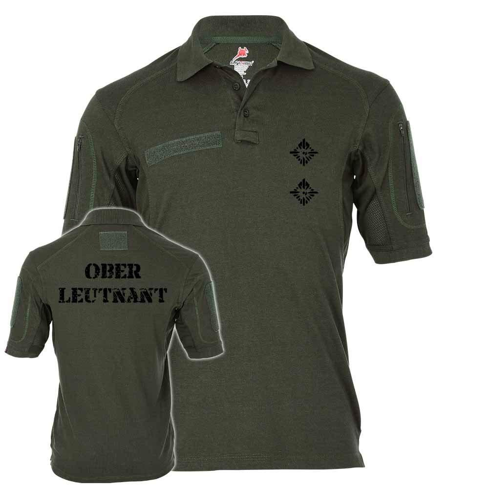Copytec Tactical Poloshirt Alfa - Oberleutnant Dienstgrad BW Abzeichen Offizier Mannschafter Truppendienst  19117