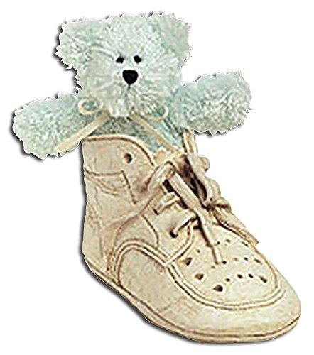 Boyds Bearfoot Friend Lissy Soft Green Teddy Bear in High Top Shoe Nursery Decoration