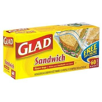 Amazon.com: Glad Zipper Sandwich Bags, Case Pack, Twelve ...