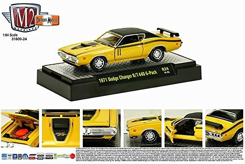 1971 DODGE CHARGER R/T 440 6-PACK (14-03) * M2 Machines Detroit Muscle Release 24 * 2014 Castline Premium Edition 1:64 Scale Die-Cast Vehicle Set (Limited to 5,000 Pieces World Wide) (1971 Dodge Challenger Diecast compare prices)