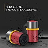 Speakers for Laptop Computer, Mejorage Portable Bluetooth Speakers Stereo Sound 4-hour Playtime for Smartphone iPad (Red)